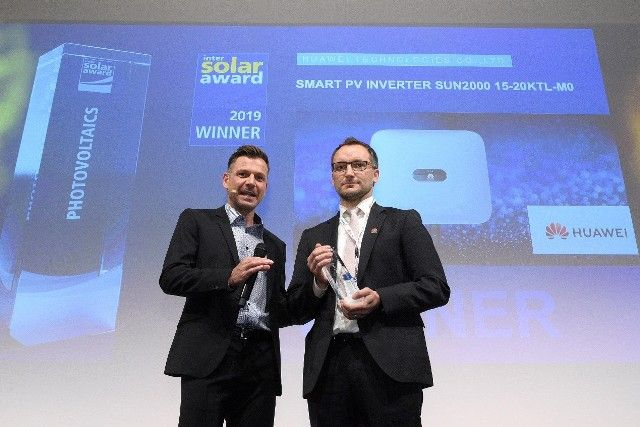 Huawei ganha Intersolar AWARD na Intersolar 2019